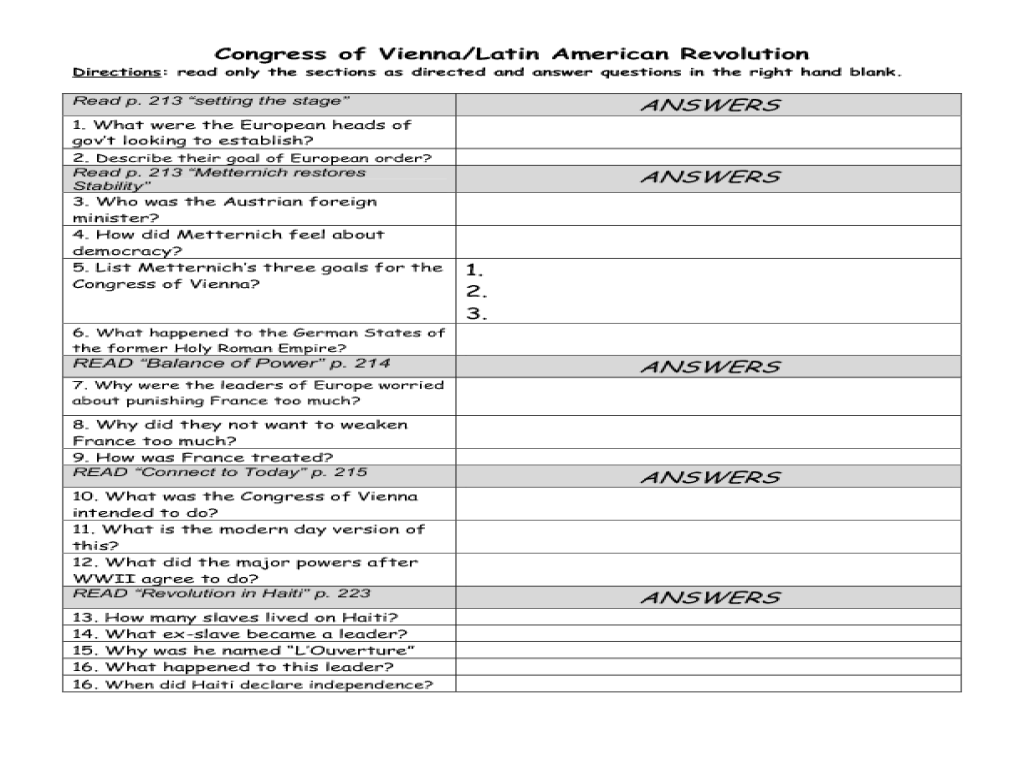 small resolution of Latin American Revolutions Lesson Plans \u0026 Worksheets