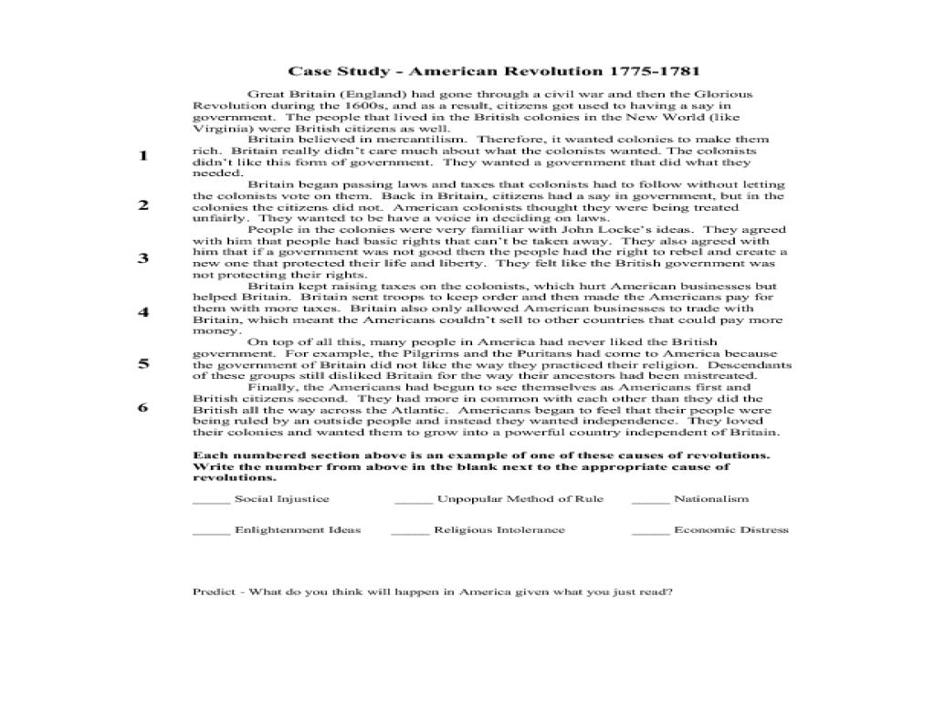 small resolution of Case Study - American Revolution 1775-1781 Lesson Plan for 7th - 11th Grade    Lesson Planet