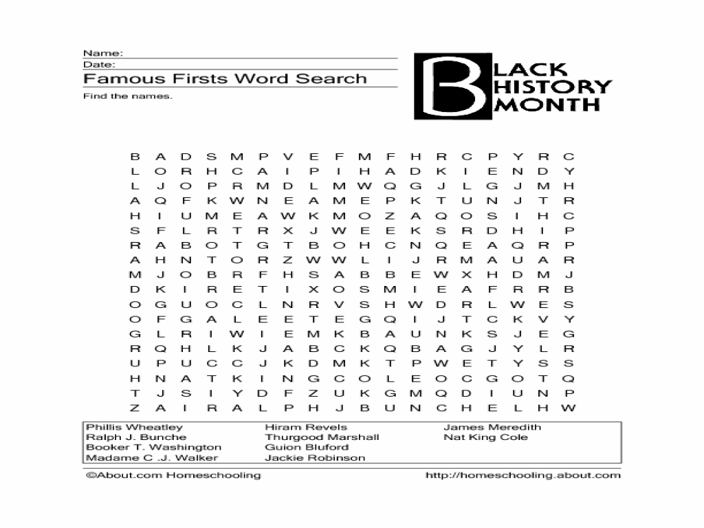 Famous Firsts Word Search Lesson Plan for 5th - 6th Grade   Lesson Planet [ 768 x 1024 Pixel ]
