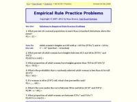 Empirical Rule Practice Problems Worksheet for 9th - 12th ...