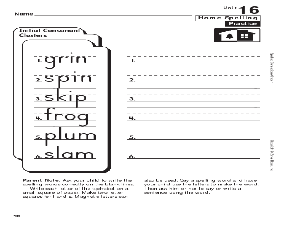 Consonant Clusters Worksheets - Letter [ 768 x 1024 Pixel ]