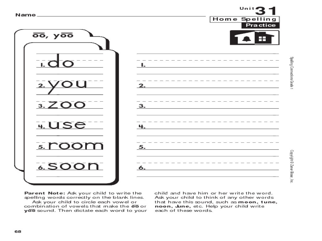 hight resolution of Words With OO and YOO Sounds Worksheet for 1st - 2nd Grade   Lesson Planet