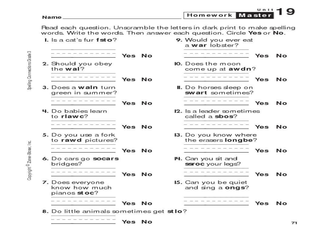 medium resolution of 3rd Grade Spelling Word Scramble Worksheet for 3rd Grade   Lesson Planet