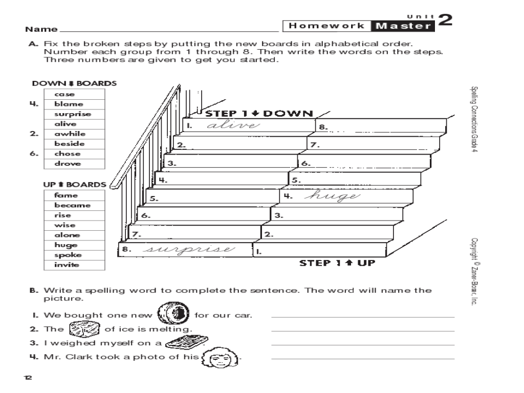 hight resolution of Spelling Connections: Grade 4: Alphabetical Order Worksheet for 4th - 5th  Grade   Lesson Planet