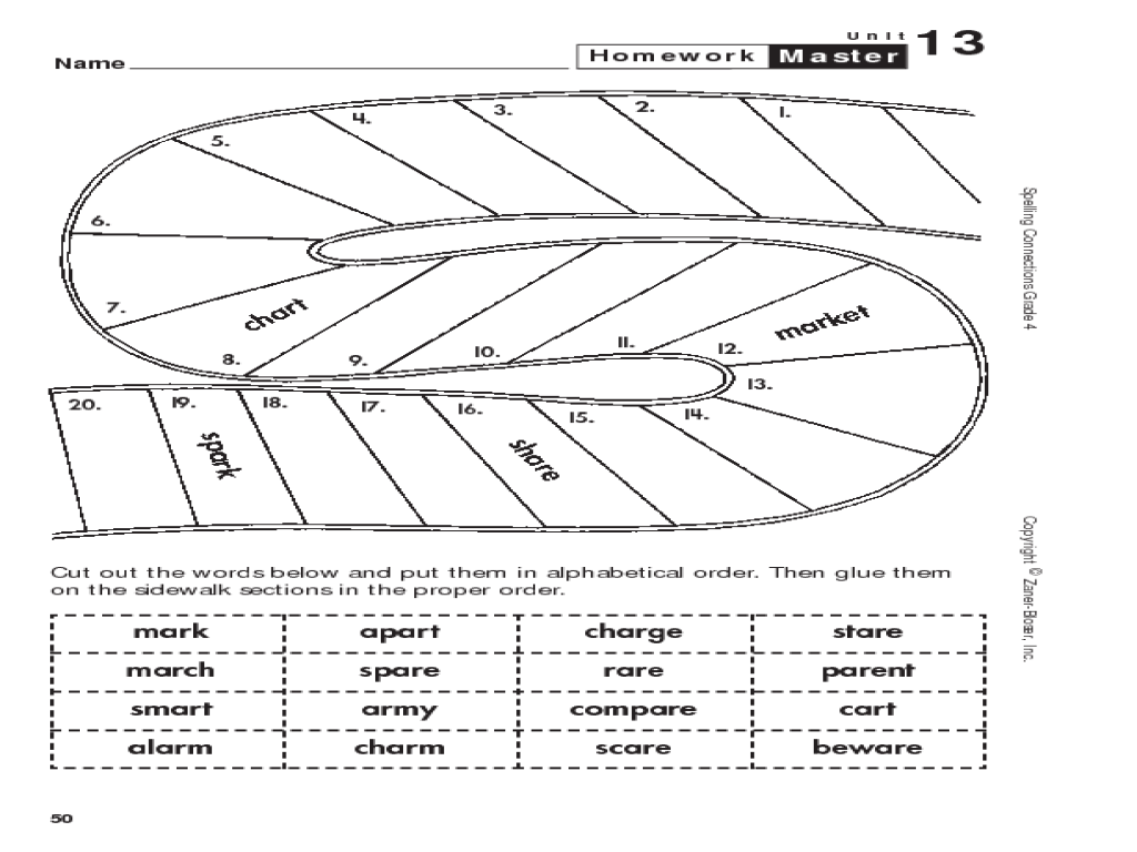 small resolution of Alphabetical Order Cut and Paste Worksheet for 2nd - 4th Grade   Lesson  Planet