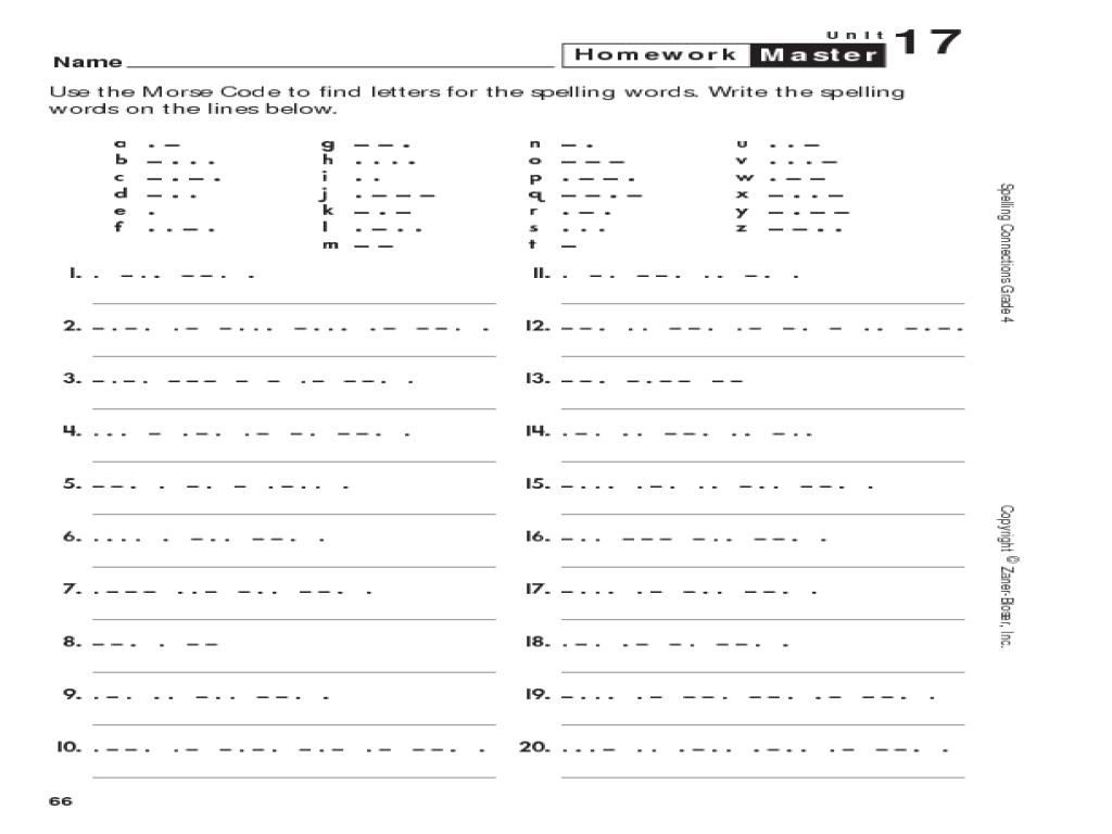 medium resolution of Morse Code Spelling Worksheet for 3rd - 6th Grade   Lesson Planet