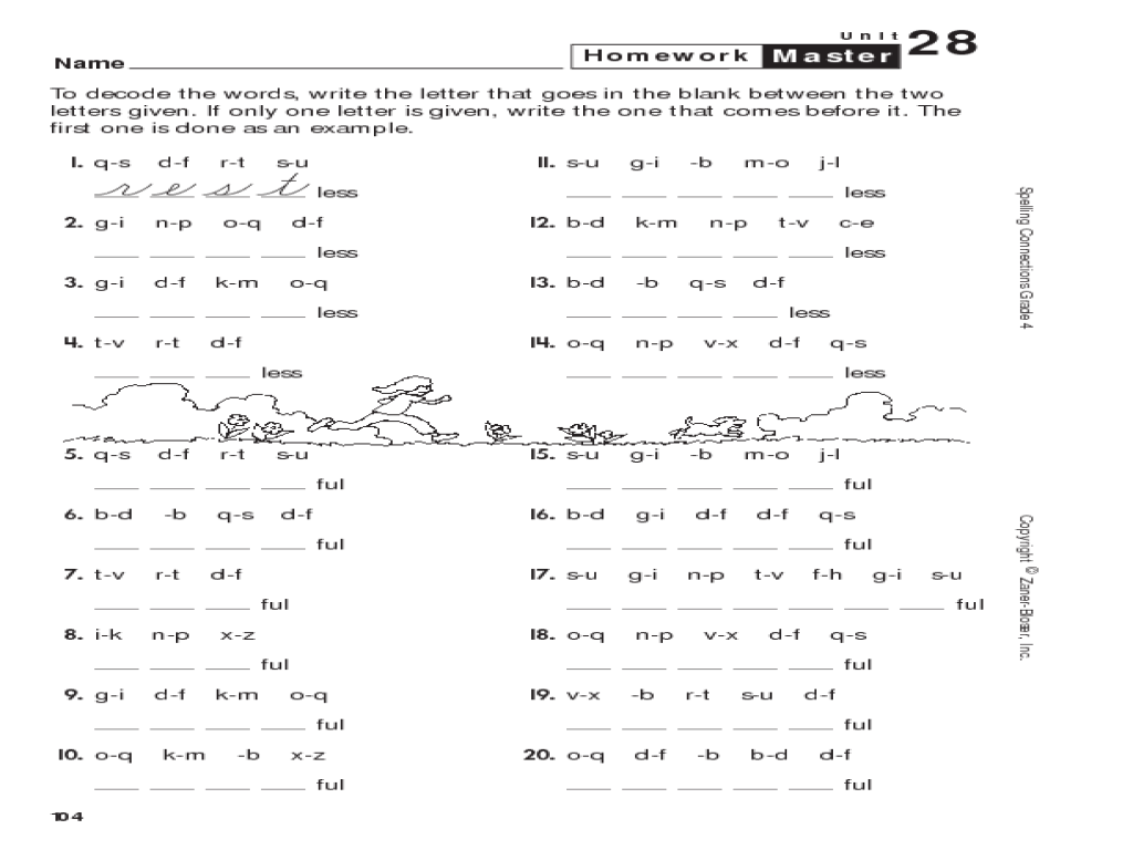 medium resolution of Decode The Words Worksheet for 3rd - 4th Grade   Lesson Planet