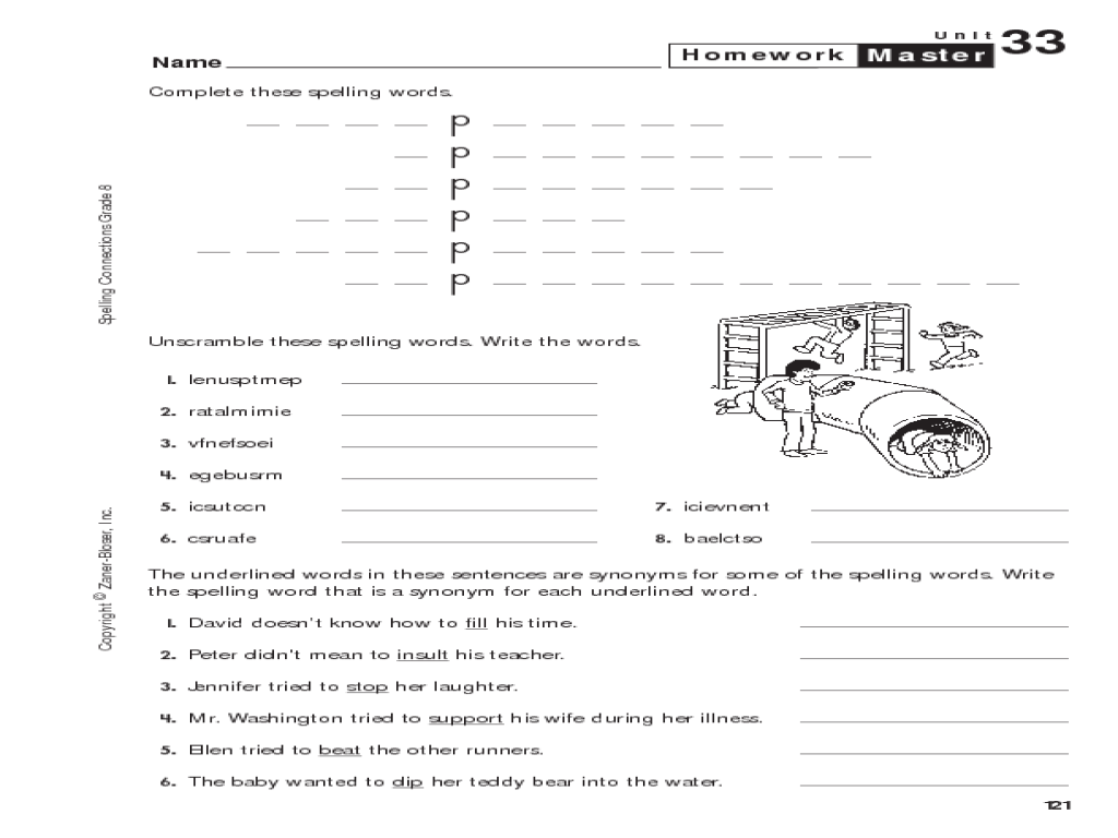 medium resolution of 8th Grade Spelling: Homework Master Worksheet for 8th Grade   Lesson Planet