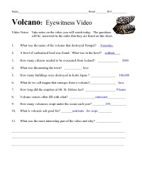 The gallery for --> Volcanoes Worksheets