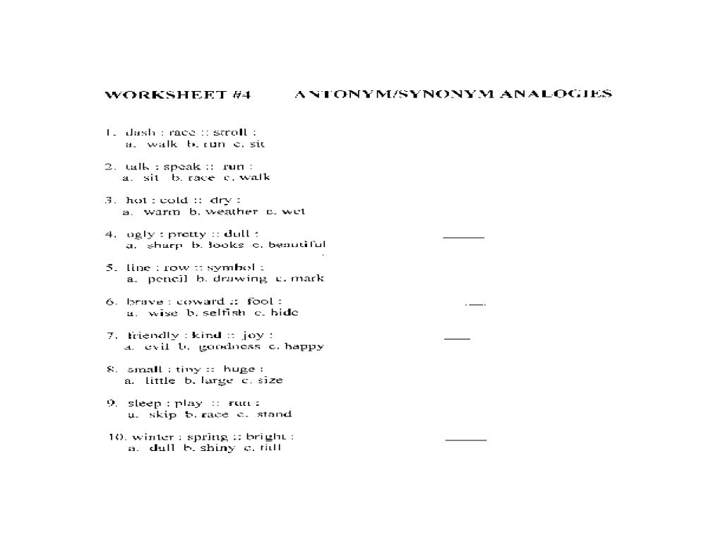 hight resolution of Synonym and Antonym Analogy Lesson Plans \u0026 Worksheets
