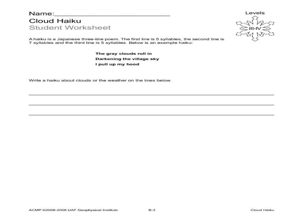 Cloud Haiku Lesson Plan for 3rd - 5th Grade   Lesson Planet [ 768 x 1024 Pixel ]