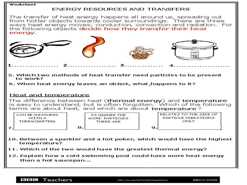 Energy Resources and Transfers Worksheet for 3rd - 5th Grade   Lesson Planet [ 768 x 1024 Pixel ]