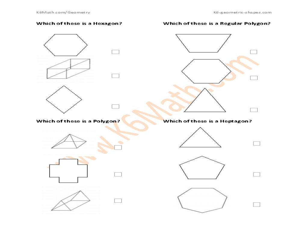 hight resolution of Identifying Geometric Shapes: Hexagon