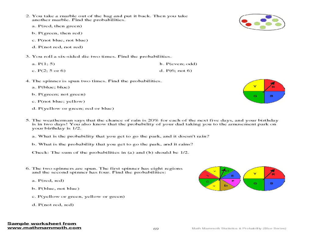 28 Probability Worksheet 6 Compound Answers - Worksheet Resource Plans [ 768 x 1024 Pixel ]