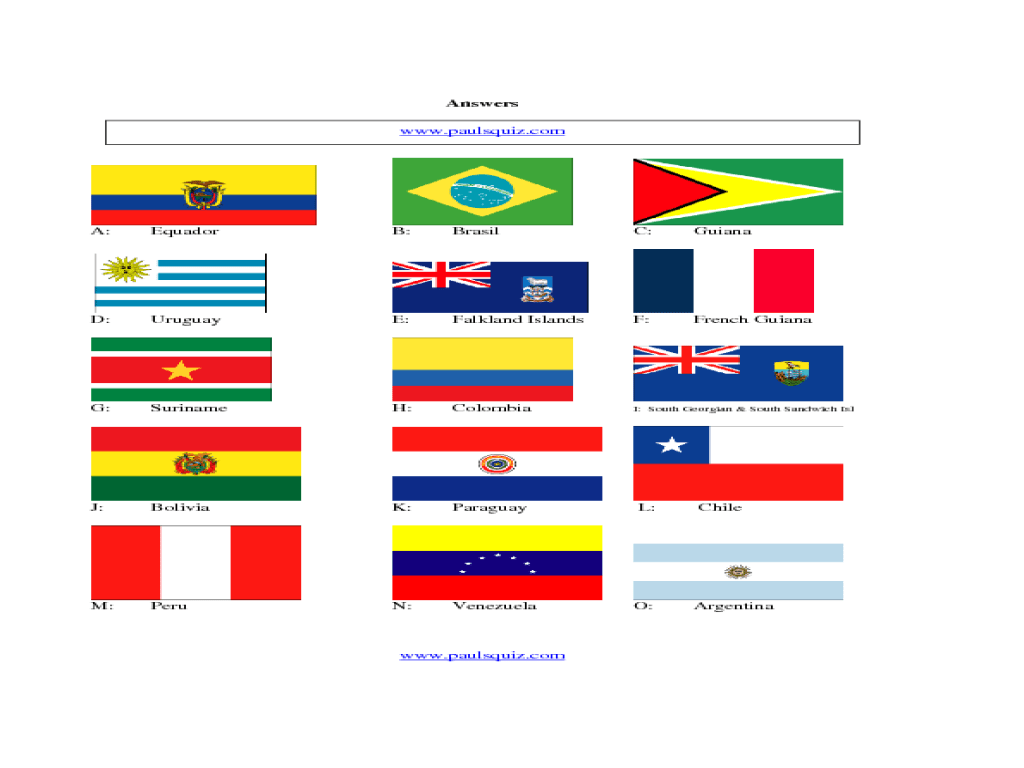hight resolution of South American Flags Worksheet for 5th - 6th Grade   Lesson Planet