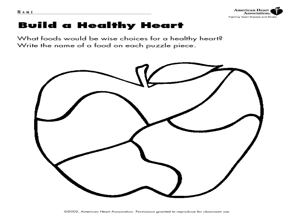 How To Build A Healthy Heart Worksheet for 2nd - 4th Grade   Lesson Planet [ 768 x 1024 Pixel ]