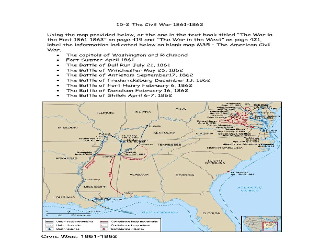 medium resolution of The Civil War 1861-1863 Graphic Organizer for 6th - 9th Grade   Lesson  Planet