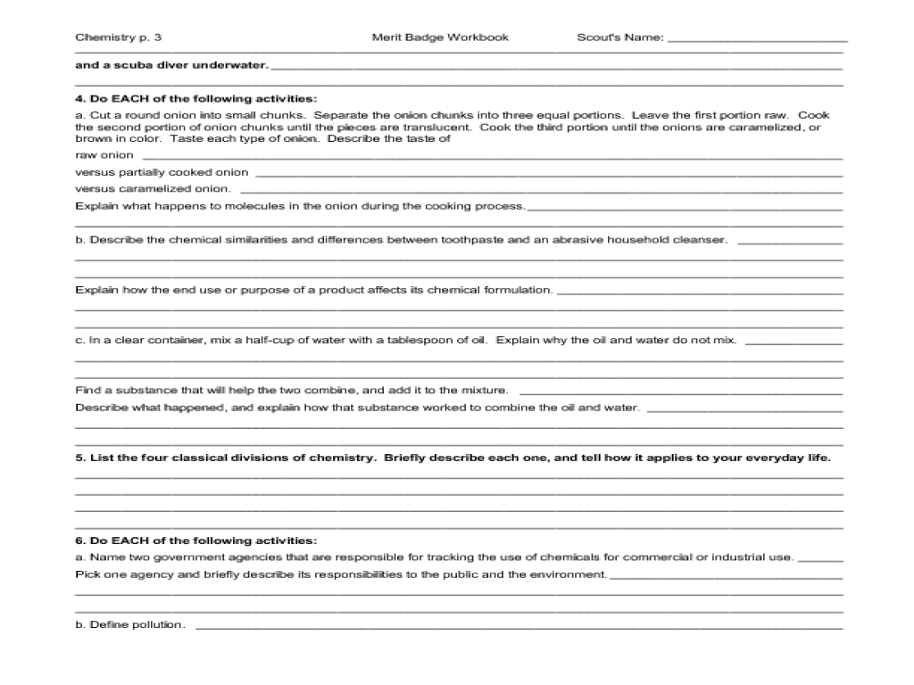small resolution of Chemistry: merit badge Worksheet for 5th - 10th Grade   Lesson Planet
