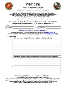 Plumbing merit badge Interactive for 5th  12th Grade