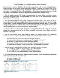 Entropy Worksheet for 11th - Higher Ed | Lesson Planet