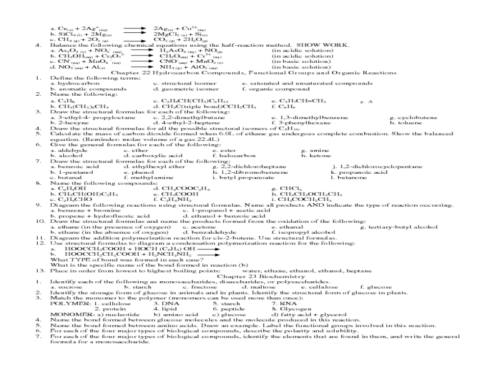 Chemistry Study Guide Worksheet for 10th Grade   Lesson Planet [ 768 x 1024 Pixel ]
