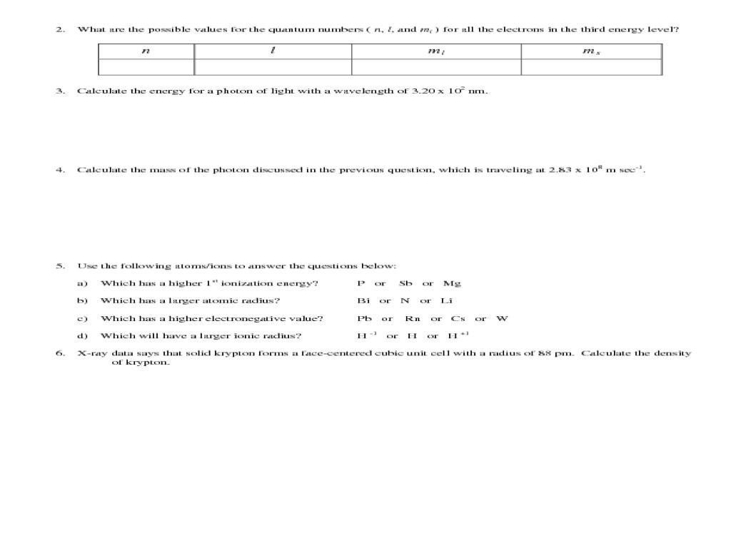medium resolution of AP Chemistry