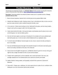 Parallelism Worksheet. Worksheets. Ratchasima Printable ...
