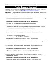 Pictures Parallel Structure Worksheet - Roostanama