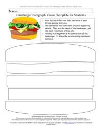 Hamburger Paragraph Visual Template for Students ...