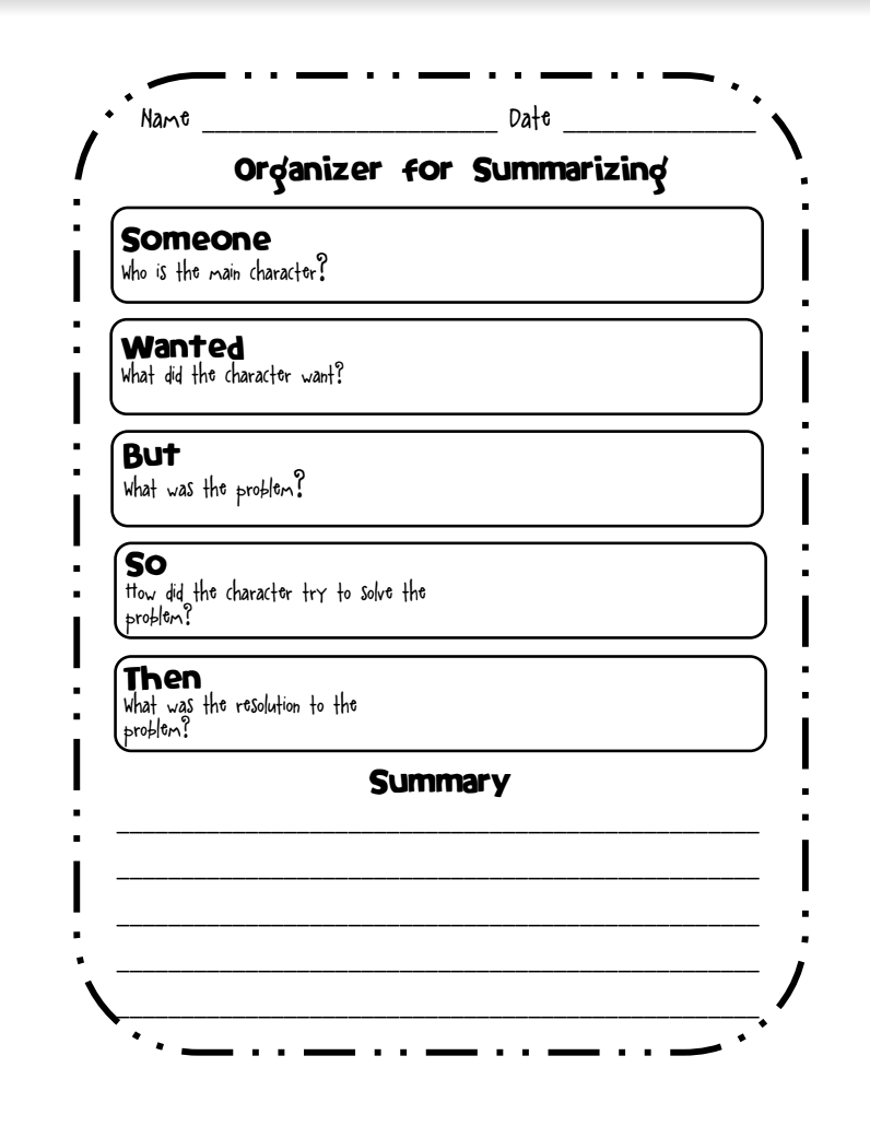 hight resolution of Organizer for Summarizing Graphic Organizer for 2nd - 6th Grade   Lesson  Planet