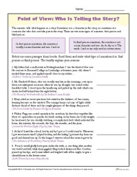 Point Of View Worksheet Worksheets For School