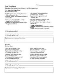 Tone Worksheet 4 Worksheet for 6th