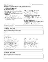Tone Worksheet 4 Worksheet for 6th - 9th Grade | Lesson Planet