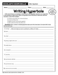 All Worksheets  Hyperbole Worksheets - Printable ...