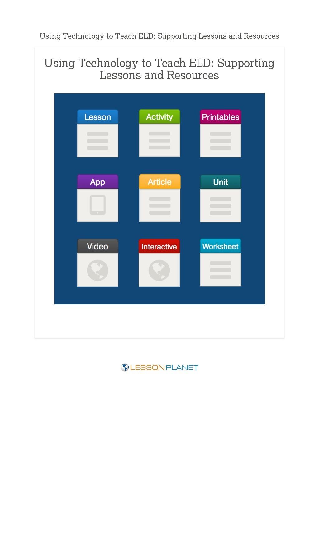 small resolution of English Language Development Lesson Plans \u0026 Worksheets   Lesson Planet