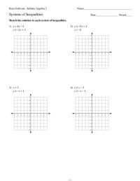 Systems of Equations and Inequalities Collection   Lesson ...