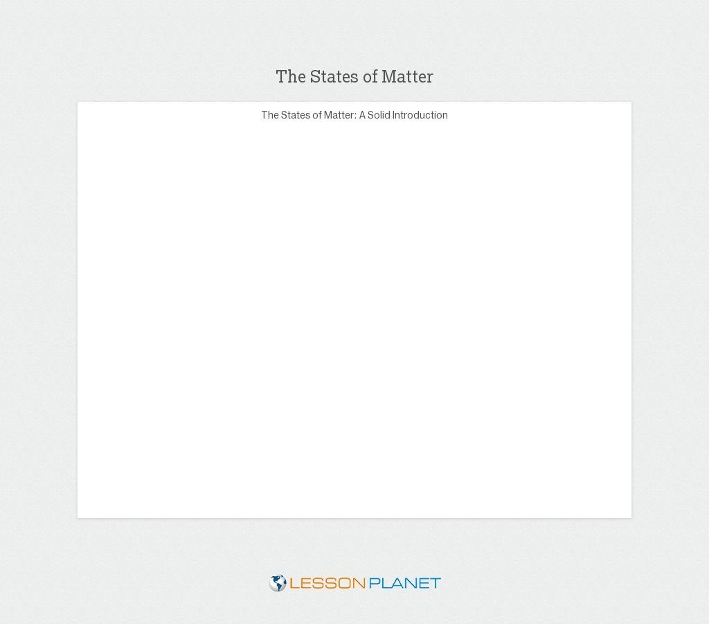medium resolution of States of Matter Lesson Plans \u0026 Worksheets   Lesson Planet