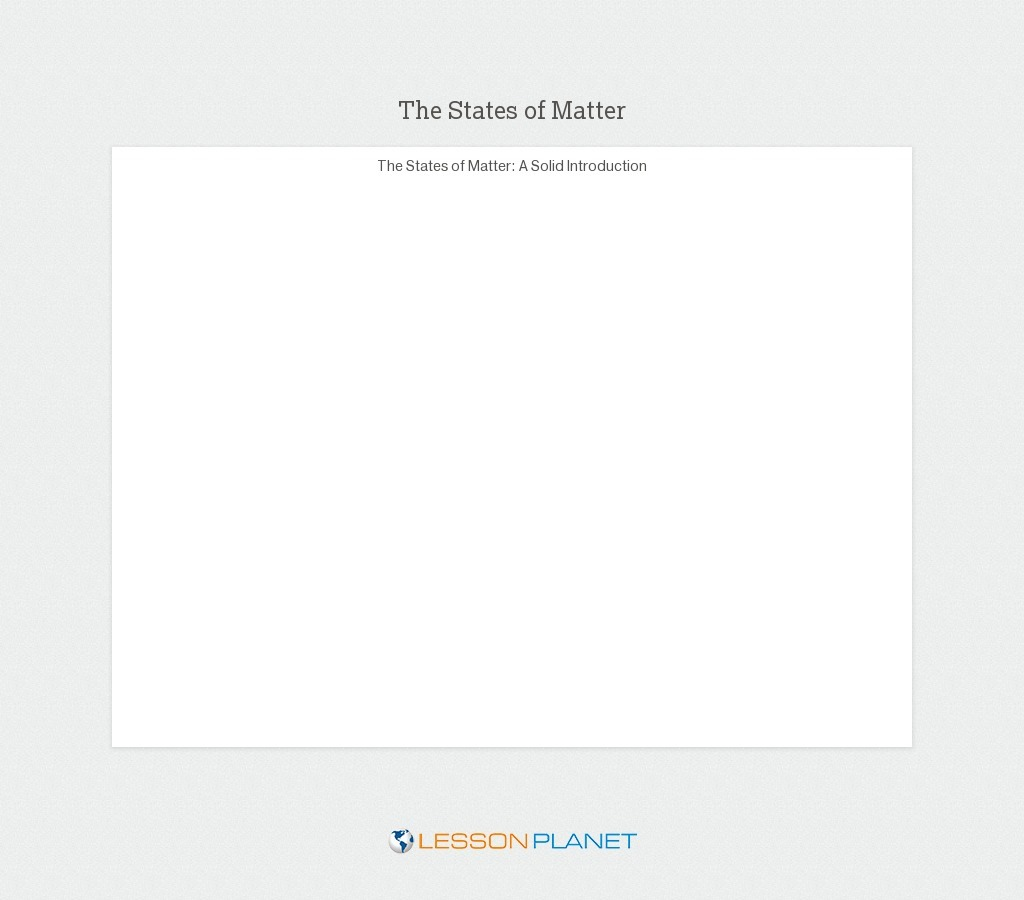 hight resolution of States of Matter Lesson Plans \u0026 Worksheets   Lesson Planet