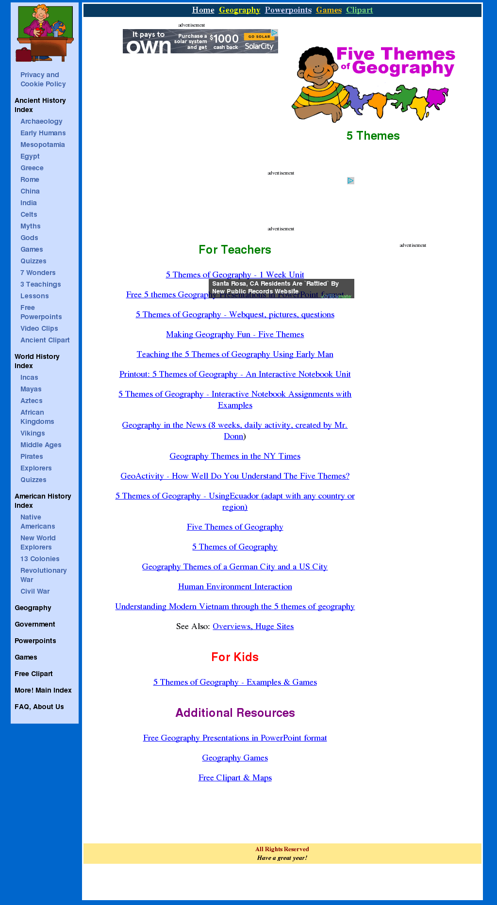 hight resolution of Five Themes of Geography Lesson Plans \u0026 Worksheets   Lesson Planet