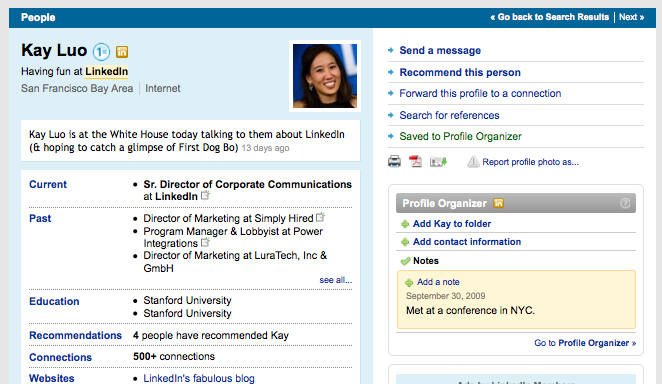 Getting Organized With Linkedin's Profile Organizer