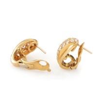 Cartier 18K Yellow Gold Diamond Huggie Earrings   eBay