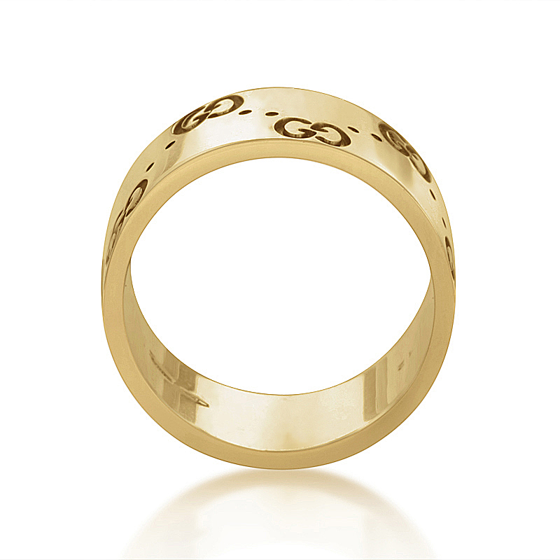 Gucci Icon 18K Yellow Gold Band Ring GUC30010215  eBay
