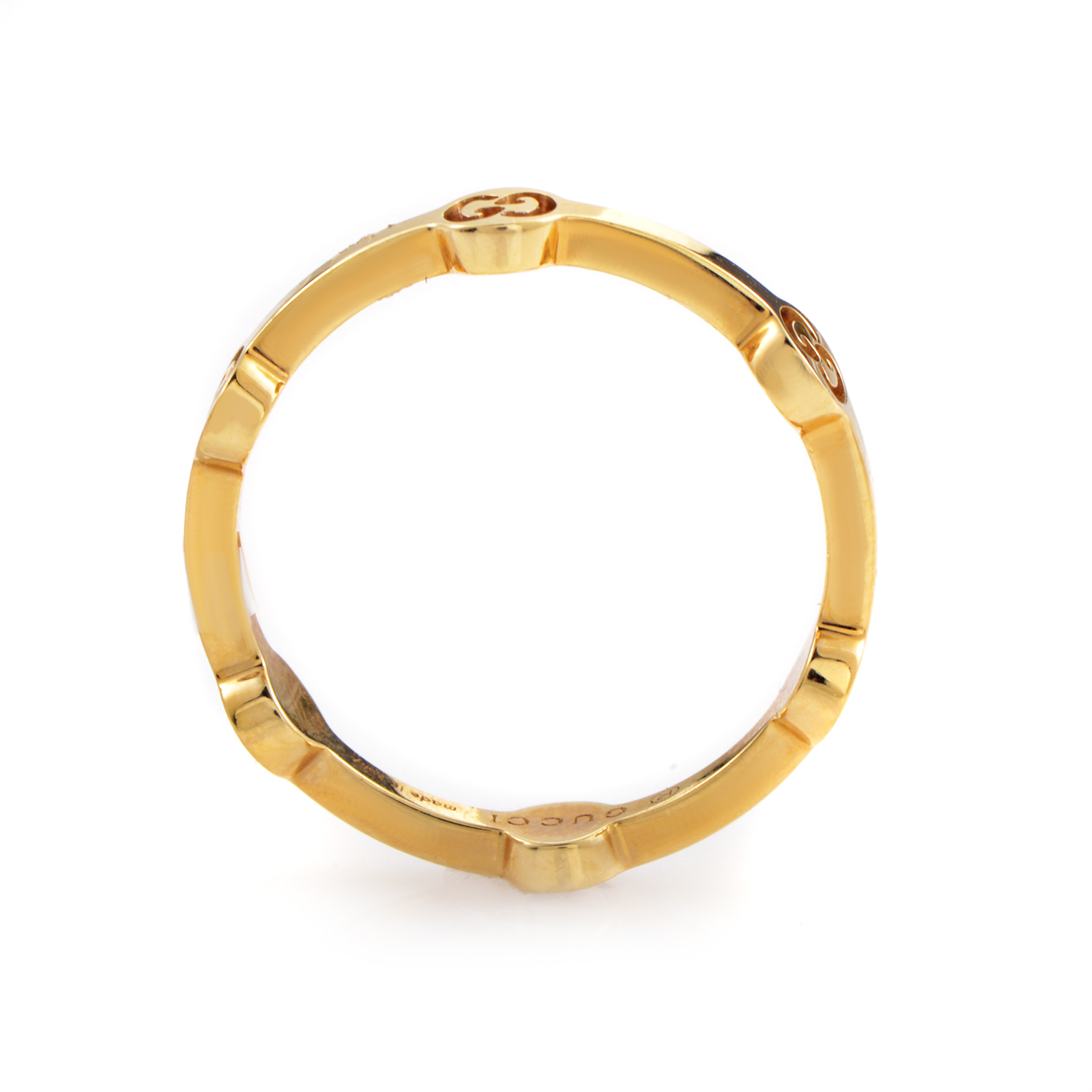 Gucci Icon Womens Thin 18K Yellow Gold Ring TONDOY  eBay