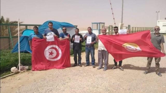 اعتصام عمّال حقلي نوارة والواحة