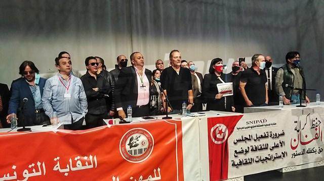 اعتصام الفنانين يُجابَه بالرفض واحتجاج على حضور عبير موسي الندوة