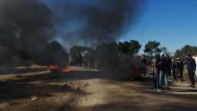 القصرين: محتجون يضرمون النار في محيط منشأة الدولاب النفطية