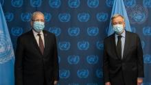 الجرندي يطلب من أمين عام الأمم المتحدة توفير تلاقيح كورونا لكل الشعوب