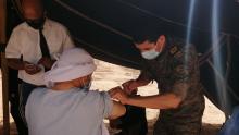 تطاوين: الملقّحون من طرف الجيش الوطني يبلغون 9000