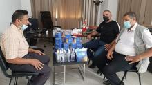 أولمبيك غمراسن يُوفّر للأهالي 7000 كمامة وكميات من السائل المطهر