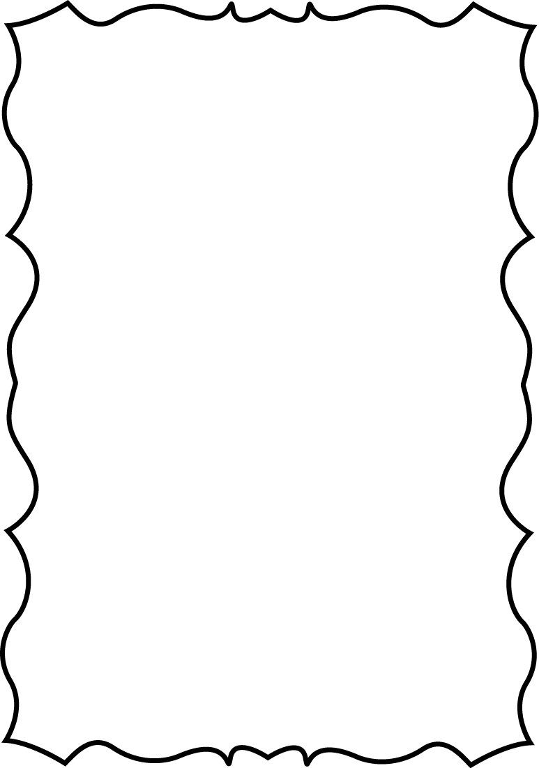 squiggle page border free